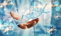 DNA structure interface. medical technology