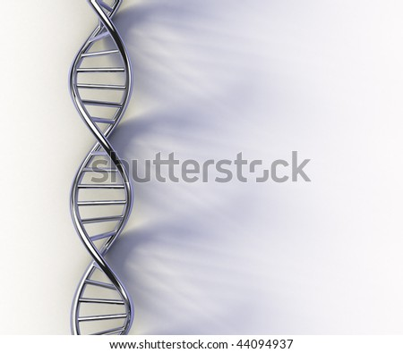 DNA structure model on white surface
