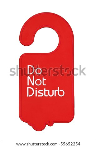 Do not disturb tag