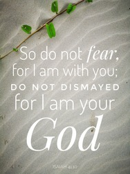 Do not fear from bible verse design for Christianity.
