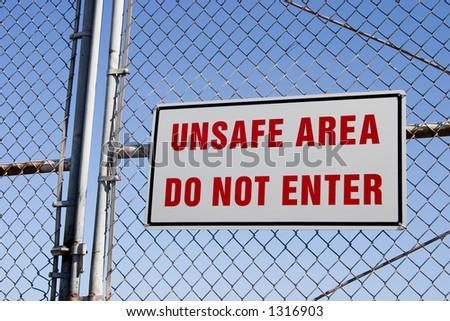 Do not go inside this area!