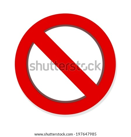 Do Not red warning sign isolated on white background #197647985