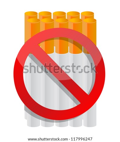 do not smoke cigarette illustration design over white