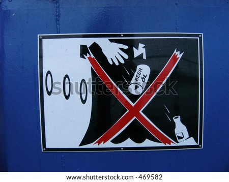 Do not throw garbage over board