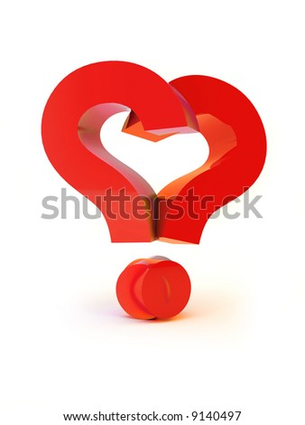 Do You Love Me ?. Heart Shaped Two Questions Marks ...