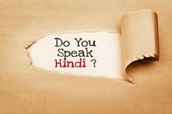 Do You Speak Hindi ?