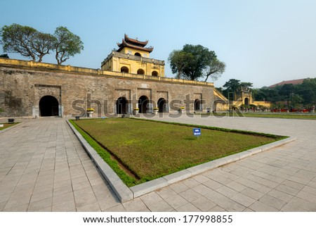 Doan Mon Gate, Imperial Citadel of Thang Long in Hanoi, Vietnam