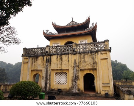 Doan Mon Gate, Imperial Citadel of Thang Long in Hanoi, Vietnam - A UNESCO World Heritage Site