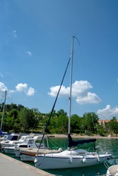 Dobrinj is located in the northeastern region of Krk Island in Croatia next to the Adriatic Sea. For tourists, ships and boats for yachts, boats, boats.
