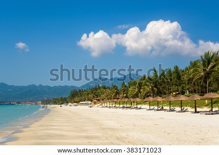 Doc Let beach with white sand, Vietnam.