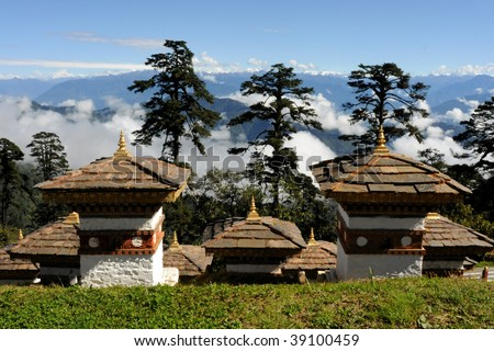 Dochula Temple in Bhutan