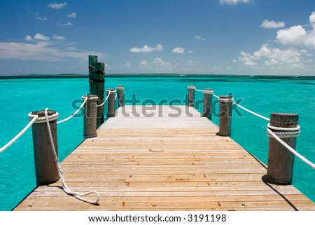 Dock at Nassau, Bamamas