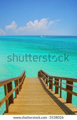 Dock Leading to Turquoise Sea