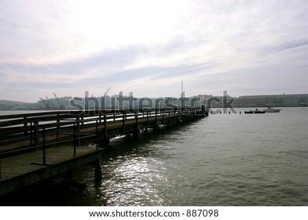Dock Looking Toward Mayer Island Vallejo California