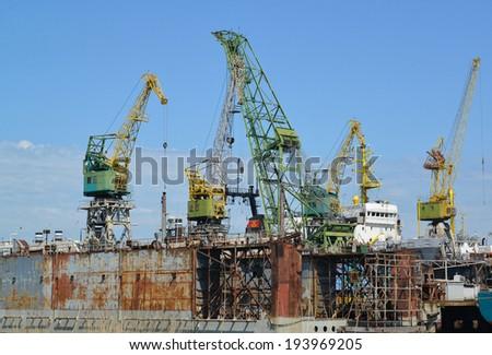 Dock of ship-repair plant