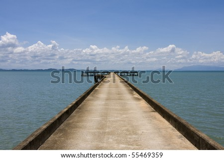 Dock to the ferry pier. Thailand.