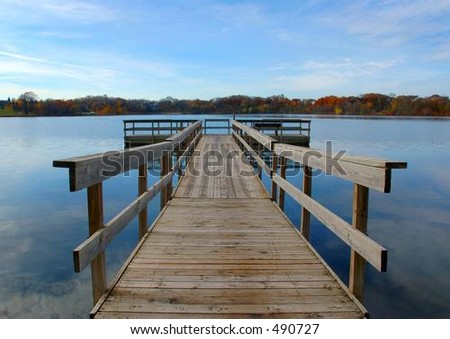 Dock with autumn colors