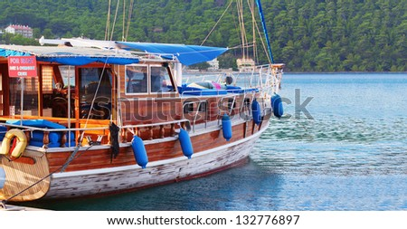 Docked boat for rent in Turkey