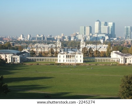 Docklands Seen From Greenwich Park