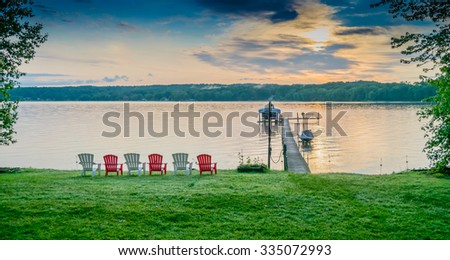 Dockside at Lake Chautauqua in Western New York State