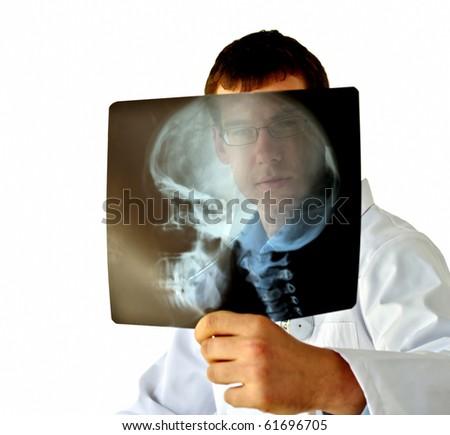 Doctor analyzing X-Ray