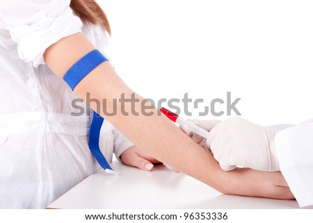 Doctor and patient, isolated over white background