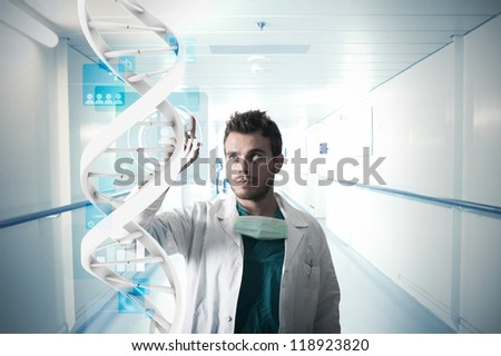 Doctor and touch screen system