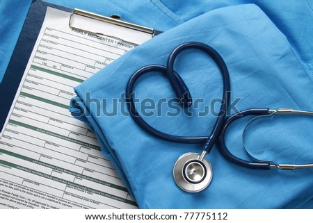 Doctor coat with stethoscope