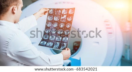 Doctor examine picture. Medical equipment.