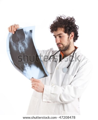 Doctor examining a x-ray image