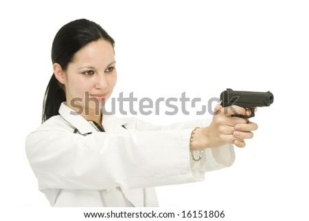 Doctor Holding Gun Stock Photo 16151806 : Shutterstock