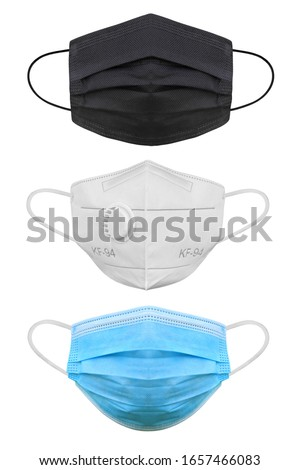 Doctor mask and corona virus protection isolated on a white background, With clipping path