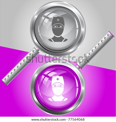Doctor. Raster magnifying glass. Vector version is in my portfolio.