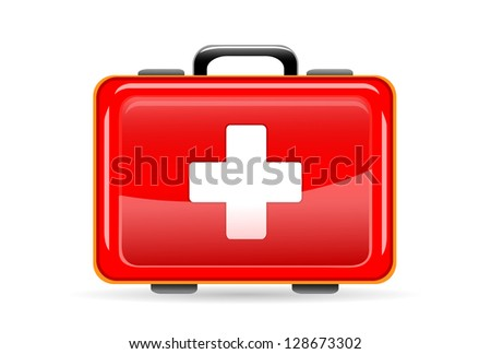 Doctor's medical bag Stylized icon of design