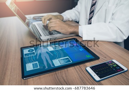 doctor's office. medical technology concept.