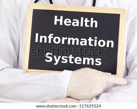 Doctor shows information: health information systems