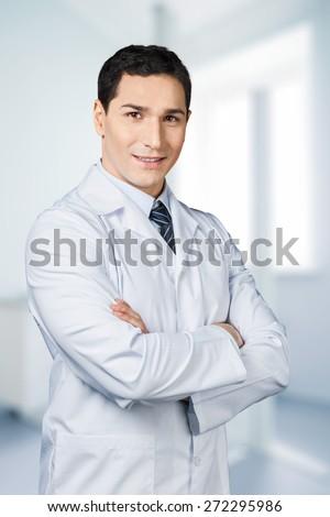 Doctor, Smiling, Lab Coat.