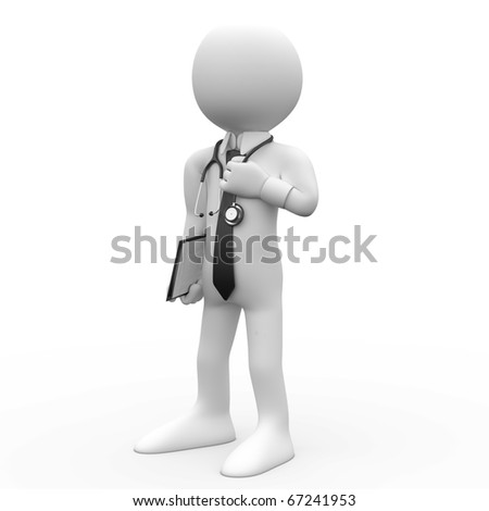 Doctor with a stethoscope around his neck