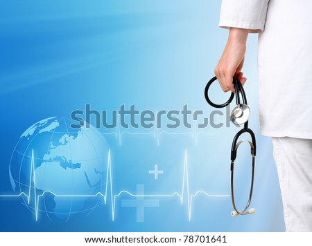 Doctor with medical background
