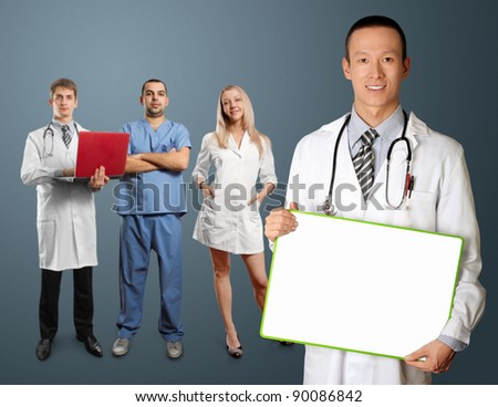 doctor with personal and write board in his hands