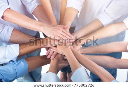 Doctors and nurses coordinate hands #775802926