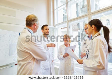 Doctors during medical training working together