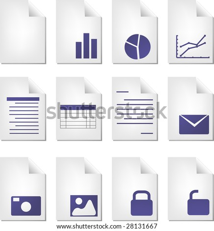 Document File Types Icon Set Clipart Illustration - 28131667 ...: shutterstock.com/pic-28131667/stock-photo-document-file-types-icon...