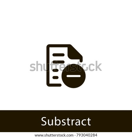 document icon. substract document. sign design