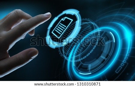 Document Management Data System Business Internet Technology Concept. #1310310871