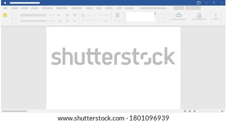 document text editor, Word, Microsoft word vector word document, layout and interface