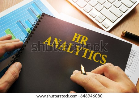 Document with name hr analytics in an office.