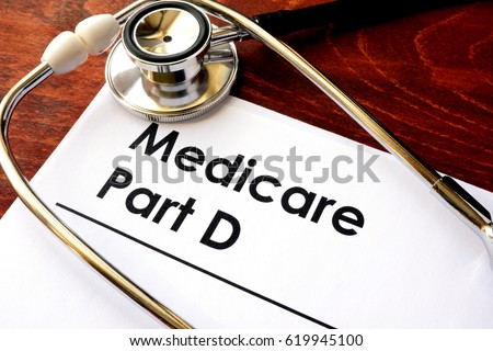 Document with the title Medicare Part D. Photo stock ©