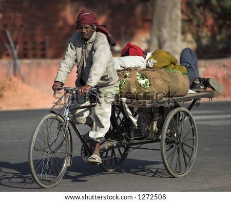 "Documentary: People of India; a typical ""bike-truck"" seen in the streets of New Delhi"