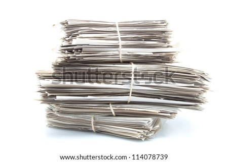 documents classified under bundles and tied with ropes